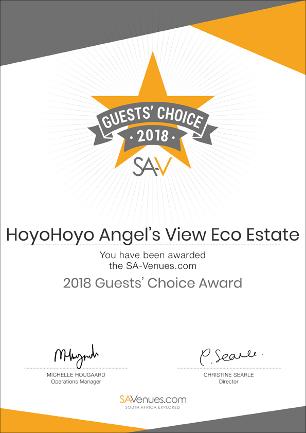 Angel's View Eco Estate - SA-Venues Guests' Choice Award