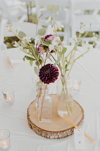 High Tea Wedding Flowers